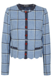House of Holland Coco checked wool jacket