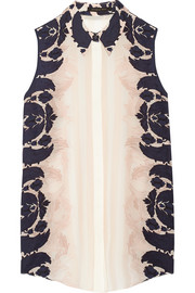 Mother of Pearl Umiko printed silk crepe de chine shirt