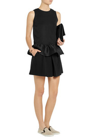 Mother of Pearl Averil cotton-jersey and wool-blend peplum top