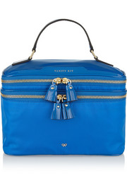 Anya Hindmarch Vanity Kit patent leather-trimmed cosmetics case
