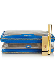 Anya Hindmarch In Flight patent leather-trimmed travel case