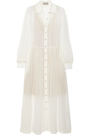 Preen by Thornton Bregazzi Barton silk-georgette midi dress
