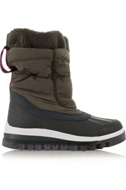 Weekender Hiker shell and rubber ski boots
