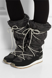 Adidas by Stella McCartney Fleece-lined faux suede and shell ski boots