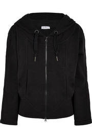Essentials cotton-blend jersey hooded top