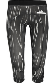 Run Climalite® cropped printed stretch leggings