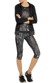 Adidas by Stella McCartney Run Climalite® cropped printed stretch leggings