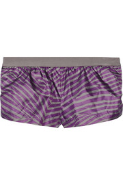 Adidas by Stella McCartney Low Waste printed shell shorts