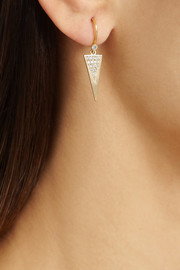 Halleh 18-karat gold diamond triangle earrings