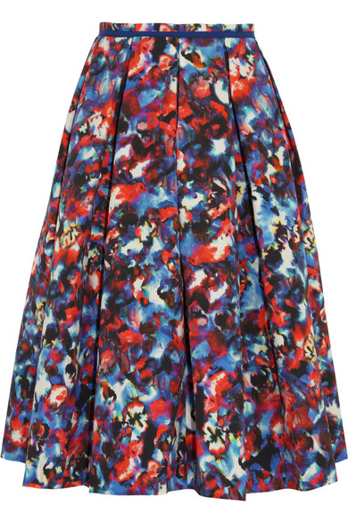 Sale alerts for Bettina printed cotton-blend cloqué midi skirt Saloni - Covvet