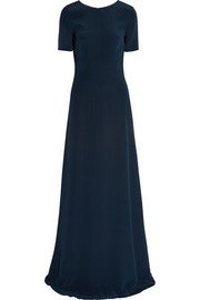 Saloni Donna silk crepe de chine maxi dress