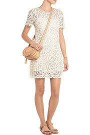 SEA Battenburgh cotton-lace dress