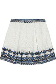 SEA Embroidered lace mini skirt