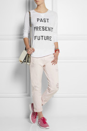Zoe Karssen Past Present Future cotton and modal-blend top