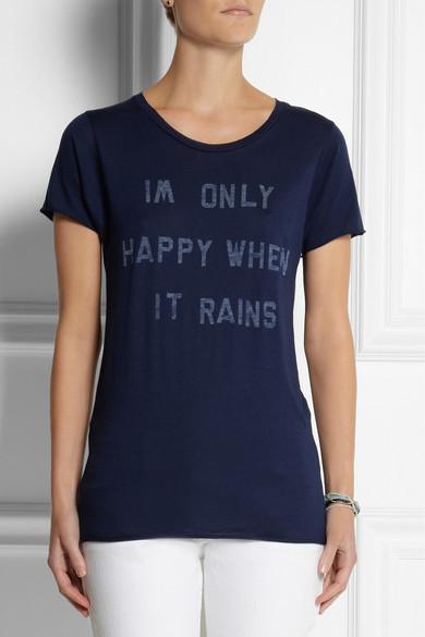 4c28d465a8348 Zoe Karssen. Only Happy When It Rains cotton and modal-blend T-shirt