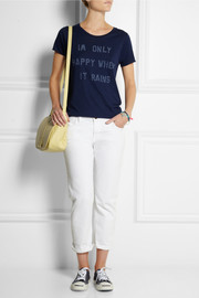 Zoe Karssen Only Happy When It Rains cotton and modal-blend T-shirt