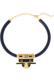 Etro + V&A gold-plated, Swarovski crystal and resin necklace