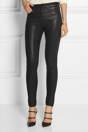 J Brand The Maria high-rise coated skinny jeans