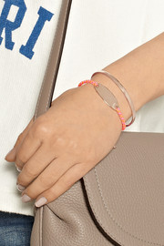 Monica Vinader Bali rose gold-plated and neon cord bracelet