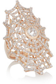 Anita Ko Spiderweb 18-karat rose gold diamond ring