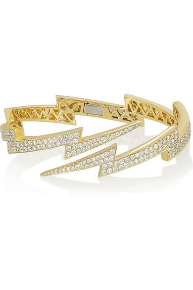 Anita Ko Lightning Bolt 18 Karat Gold Diamond Bracelet