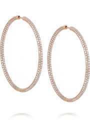 Anita Ko 18-karat rose gold diamond hoop earrings