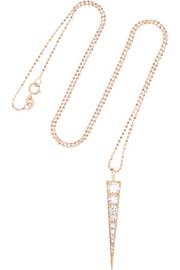 Anita Ko Dagger 18-karat rose gold diamond necklace