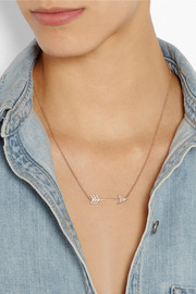 Anita Ko Arrow 18-karat rose gold diamond necklace