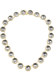 Larkspur & Hawk Olivia Button gold-dipped topaz rivière necklace