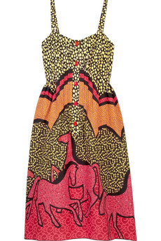 Anna Sui Printed bandeau dress