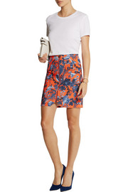 Matthew Williamson Printed stretch-scuba jersey mini skirt