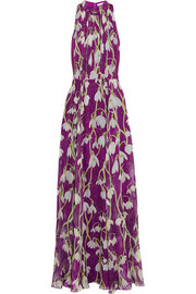 Matthew Williamson Printed silk-chiffon gown