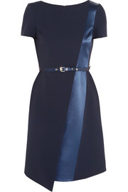 Matthew Williamson Satin-trimmed crepe dress