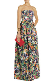 Matthew Williamson Rainbow Morris floral-print cotton-blend gown