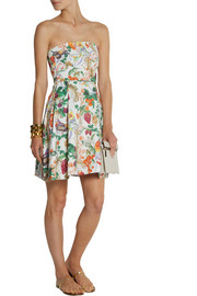Matthew Williamson Printed cotton-blend mini dress