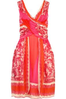 Anna SuiMulticolored silk print dress