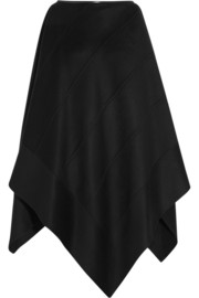 Agnona Leather-trimmed cashmere cape