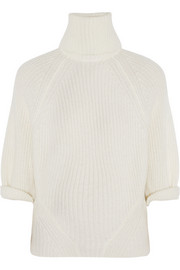 Agnona Cashmere and mohair-blend turtleneck sweater