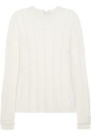 Agnona Cable-knit cashmere-blend sweater