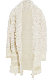 Agnona Looped-knit cashmere and silk-blend coat