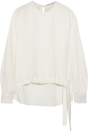 Agnona Silk-crepe top