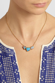 Brooke Gregson 18-karat gold opal necklace