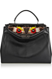 Fendi Peekaboo medium leather and calf hair tote