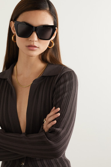 Rapture Cat-eye Acetate Sunglasses - Black Le Specs cpB1kEt