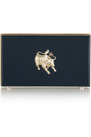 Charlotte Olympia Year of the Ox Pandora Perspex clutch