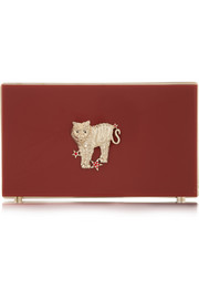 Charlotte Olympia Year of the Tiger Pandora Perspex clutch