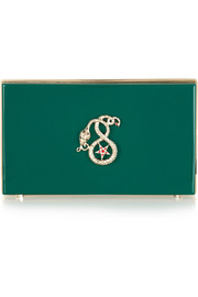 Charlotte Olympia Year of the Snake Pandora Perspex clutch