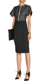 Roland Mouret Sitona wool-crepe pencil skirt