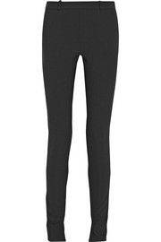 Double-faced stretch-crepe skinny pants