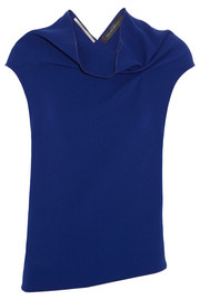 Roland Mouret Eugene draped wool-crepe top